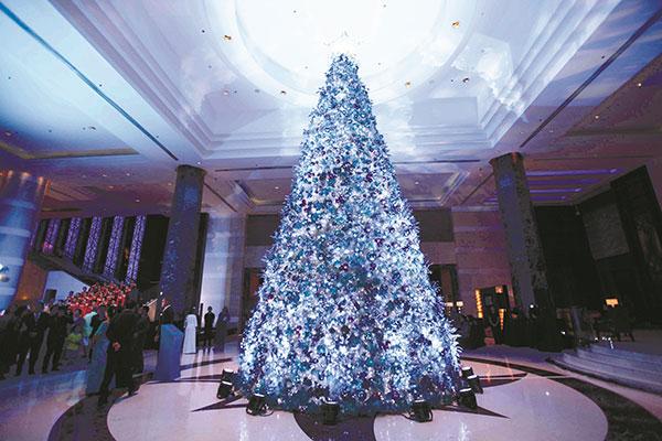 Radisson Blu Cebu's 45-foot Christmas Tree