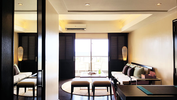 The Oceana Suite with a view of the sea