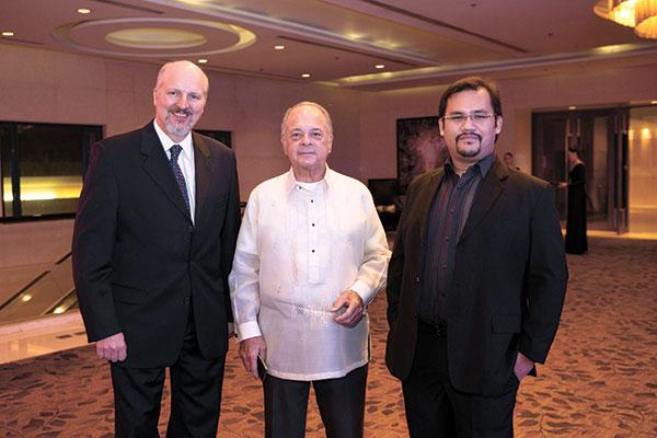 Jurgen Pesch, Ed Gonzalez, and Miguel Osmeña