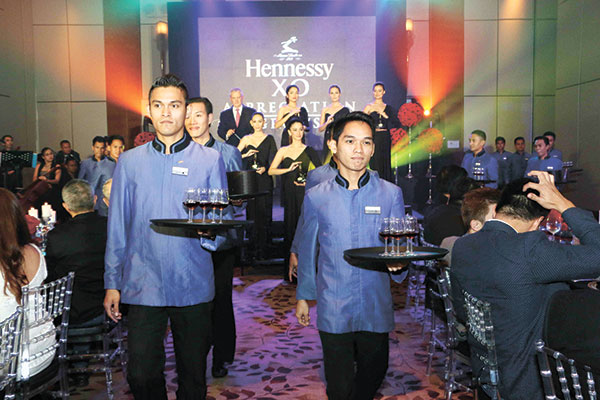 Waiters' parade