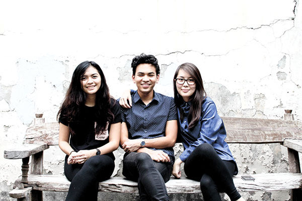 BLOOMING FRIENDSHIP. Keisha Lim, together with her friends, siblings Aaron and Monica Posadas, runs the online plant store Bloom.