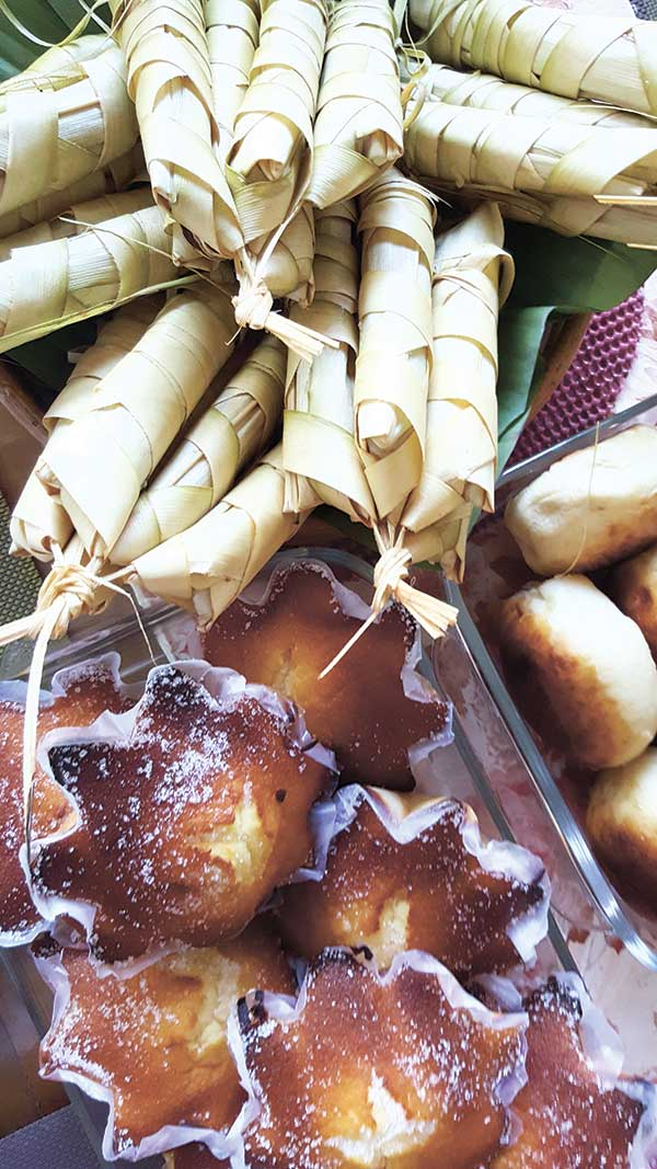 DELICACIES. The palagsing, a steamed pastry with coconut meat, pan bisaya, and rich, creamy torta are among Samboan's delicious delicacies.
