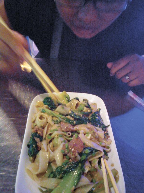 Stir-fried noodles, Cambodian style, in Pub Street, Siem Reap
