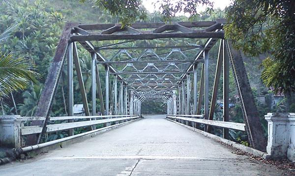 An old steel bridge in Asturias town in Cebu