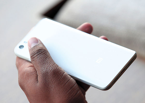 ON SHOW. The new Xiaomi Mi5 on display at the Mobile World Congress wireless show in Barcelona, Spain last week. (AP PHOTO)