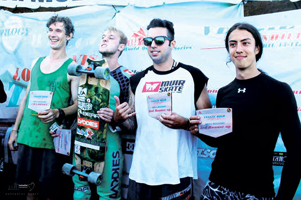 IDF Men's Division winners: Patrick Switzer (first), Riley Harris (second), Max Ballesteros (third), and Danny Carlson (fourth). (Photo by Aubrey Bejec)