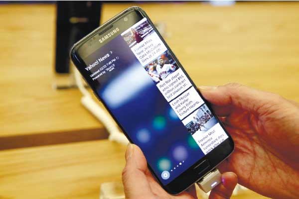OUTLASTED. SquareTrade's study, released last month, also found that Samsung's new phones are more prone to breaking than the iPhone 6S, which survived 30 seconds in a tumbling test chamber, similar to a dryer without heat. (AP PHOTO)