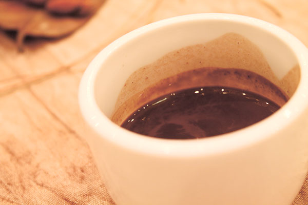 A hot cup of cocoa, the Filipino chocolate drink.