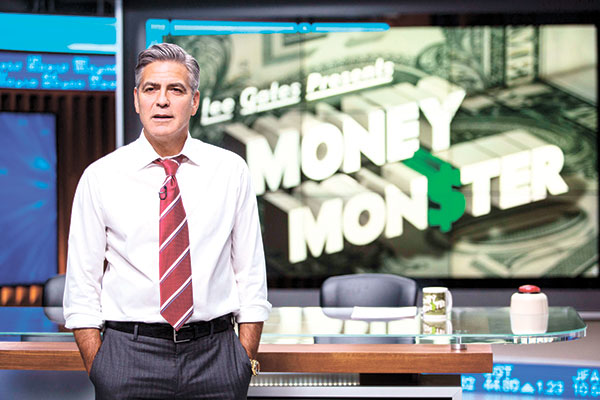 """In this image released by Sony Pictures, George Clooney appears in a scene from """"Money Monster."""" (AP PHOTO)"""