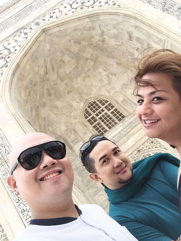 Had a great time, guys! with Alex Diola and Jay Unchuan at the Taj Mahal.