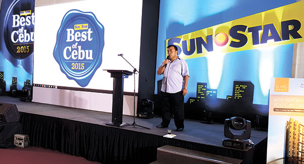 Sun.Star Cebu President and General Manager Jayjay Neri Jr. welcomes guests and exhibitors during the the Best of Cebu 2015 Lifestyle Bazaar held June 11.