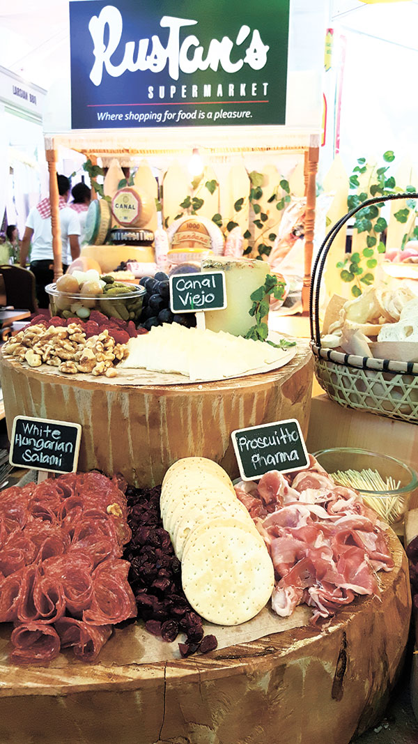 Guests couldn't get enough of cold cuts, cheese, biscuits, breads, nuts and dried fruits at the Rustan's Supermarket booth. Rustan's won as Best Gourmet Supermarket.