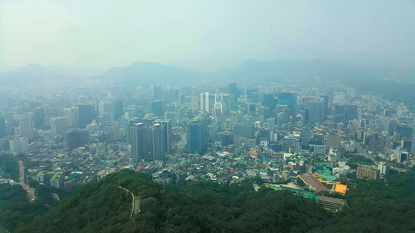 Seoul city view from N Seoul Tower