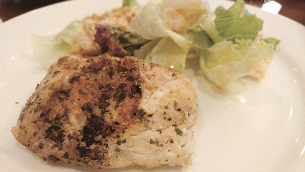 Grilled Lemon Pepper Snapper with Caesar Salad