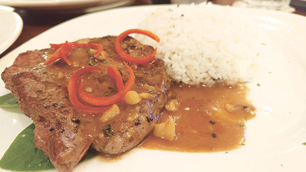 Grilled Spicy Sumatran Beef Rendang Style with Garlic Rice