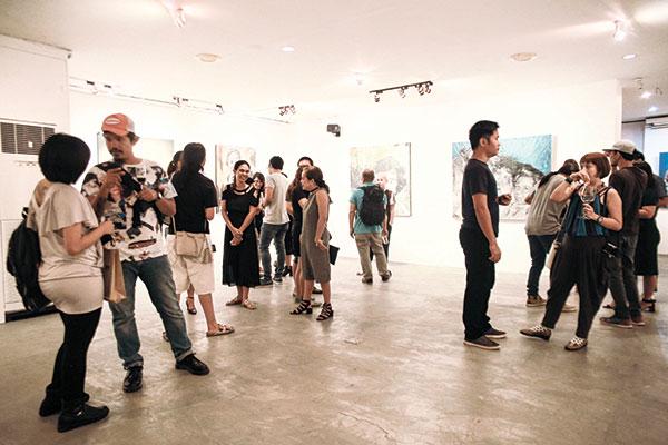 Pleasantly crowded exhibit