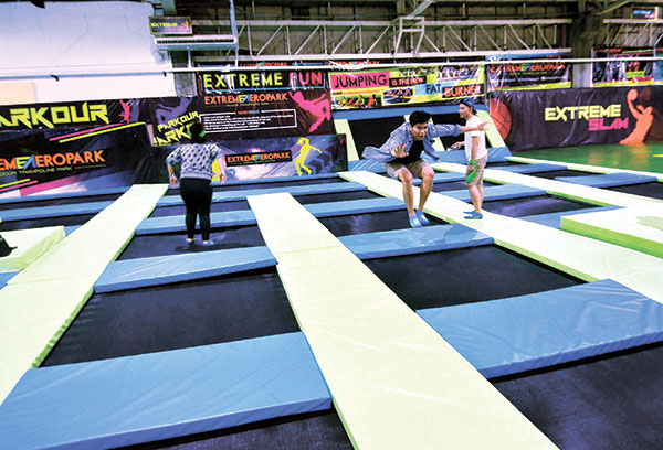 Jump and hop till you drop on the trampolines. (PHOTO BY ALLAN CUIZON)