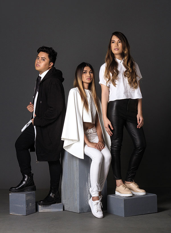 CREATING A SCENE. Driven by their love for fashion and all things beautiful, (clockwise) Axel Que, Edward James Castro and  Ching Vilar are The Blaq Mafia, a styling group that has turned the Cebu fashion scene on its head since 2013.