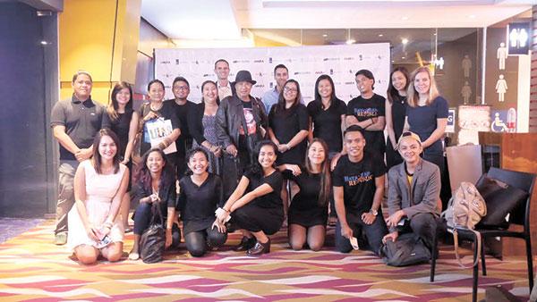 Director Gil Portes, Ligaya Rabago, Kaloy Uypuangco, with Dakila head Leni Velasco, Dakila Cebu Collective and delegates from the Dutch Embassy of the Philippine