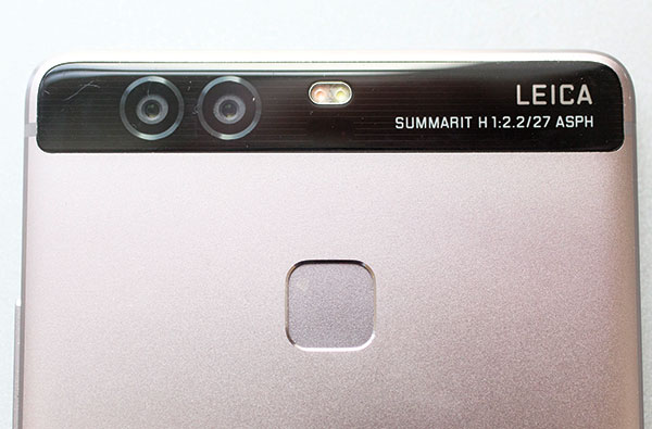 Huawei's P9 mobile phone features dual lenses: one lens captures images in color, the other in black-and-white. (AP PHOTO)