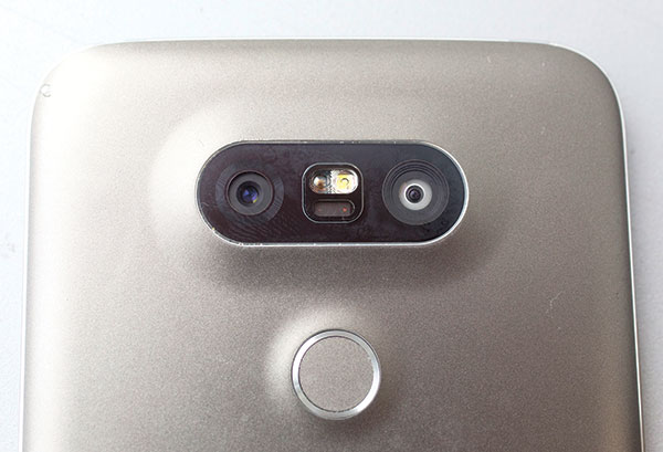 The LG G5 phone has two lenses, with the second lens offering an impressive 135-degree wide angle, compared with 78 degrees on the normal one. (AP PHOTO)