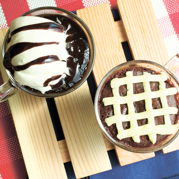 Fudge Brownie Mug Cake and Red Velvet Mug Cake for only P49 each.