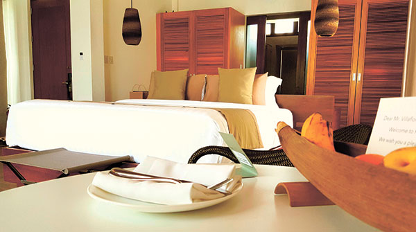 Spacious bedroom of the Ocean Villa Room