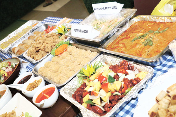 Spice Fusion's food spread