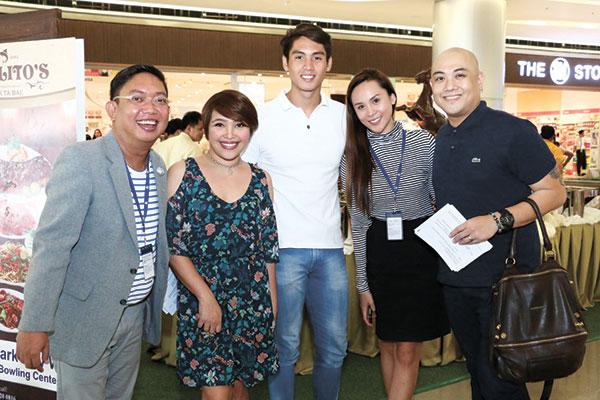 With SM Seaside City Cebu's Marketing Manager Bo Almendras, Karen Alcover-Cabahug of Paolito's, Hanz Velano, and Anther Infante SM Seaside City Cebu Marketing Manager