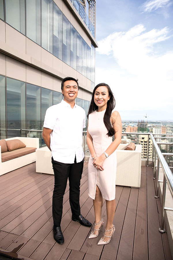 """NEW HEIGHTS. As the the new marketing director of Cebu Landmasters Inc., Joanna """"Joie"""" Soberano joins brother Franco, the chief operating officer, in taking the family's real estate business to new heights."""