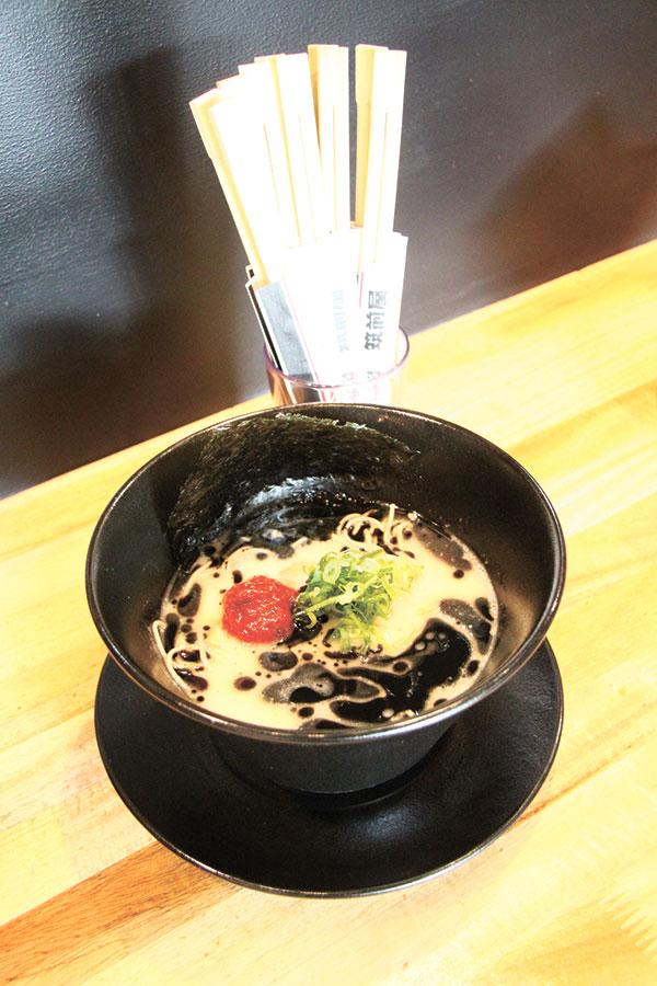 Garlic-filled Kuro Tonkotsu Ramen