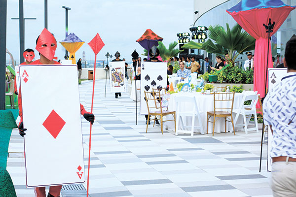 Sky Play at SM Seaside City's Sky Park was launched with an Alice in Wonderland theme. (Ruel Rosillo)