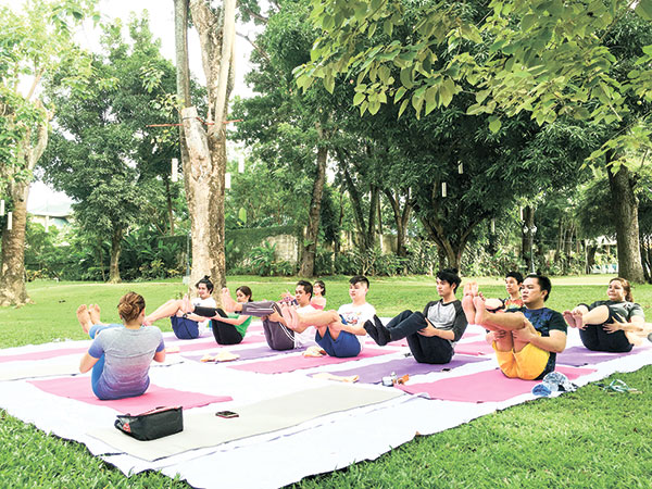 Sunday Yoga at the Gardens