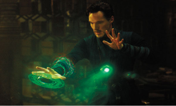 "Benedict Cumberbatch in a scene from Marvel's ""Doctor Strange."" (AP PHOTO)"