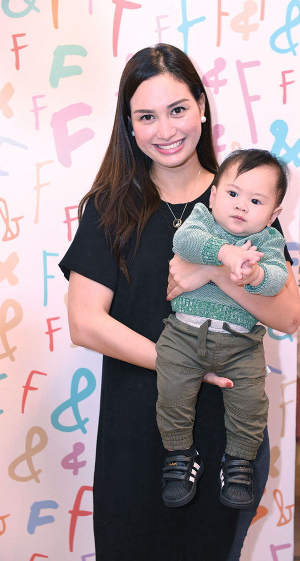 Marian Climaco with son Bastien Climaco