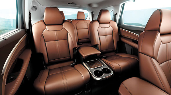 The MDX interior, which has three rows of seats, is impressively quiet and rides comfortably on nearly all kinds of pavement.