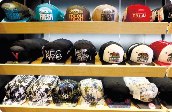 Shelves full of choices