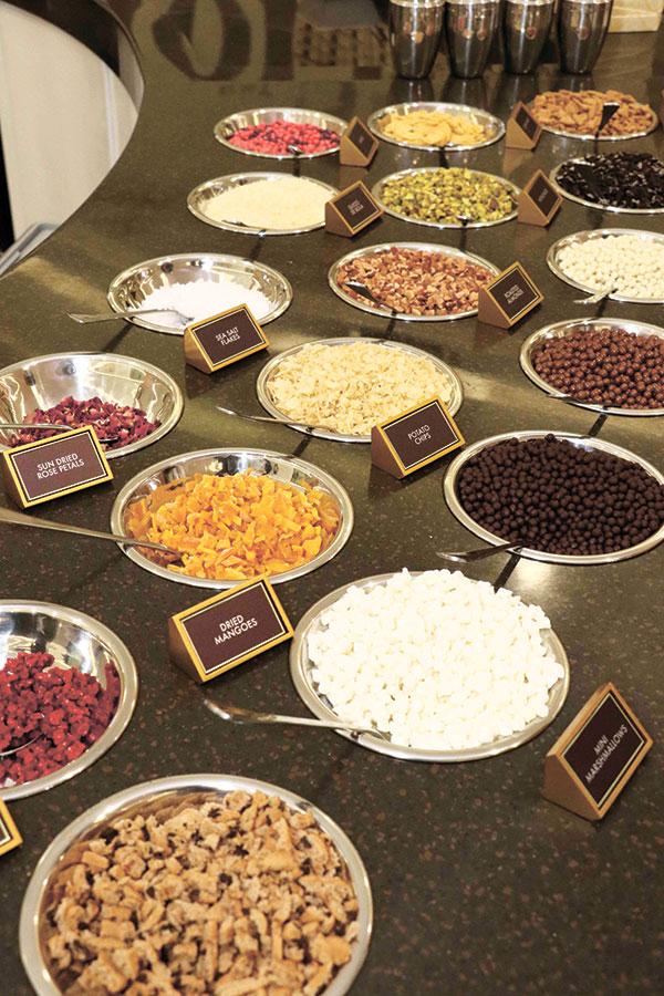 A spectrum of toppings that boast of a variety of flavors