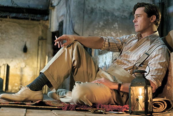 """In this image released by Paramount Pictures, Brad Pitt appears in a scene from """"Allied."""" (AP PHOTO)"""