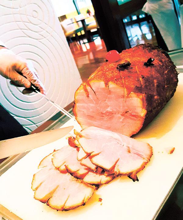 Original glazed Christmas ham