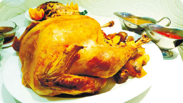 Special whole Christmas turkey